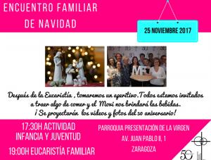 Eucaristía familiar 16-diciembre-2017 @ Parroquia de la Presentación de la Virgen | Zaragoza | Aragón | España